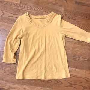 Coldwater Creek yellow shirt size medium